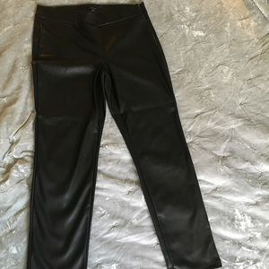 Ann Taylor (faux leather) pants - size 16 tall